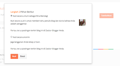 Cara Follow Blog Lain di Blogger