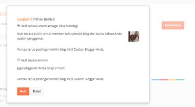 Cara Follow Blog Lain di Blogger