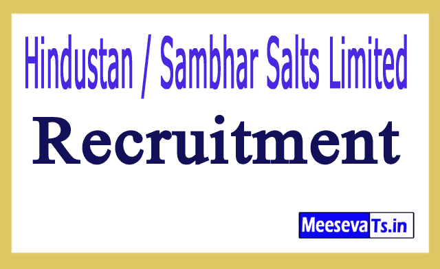 Hindustan / Sambhar Salts Limited HSL Recruitment