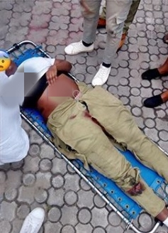 Female NYSC Member Cheats Death As Reckless Driver Knocked Her Down In Lagos