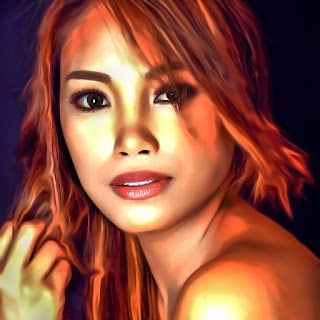 digital painting using photoshop beautiful girl