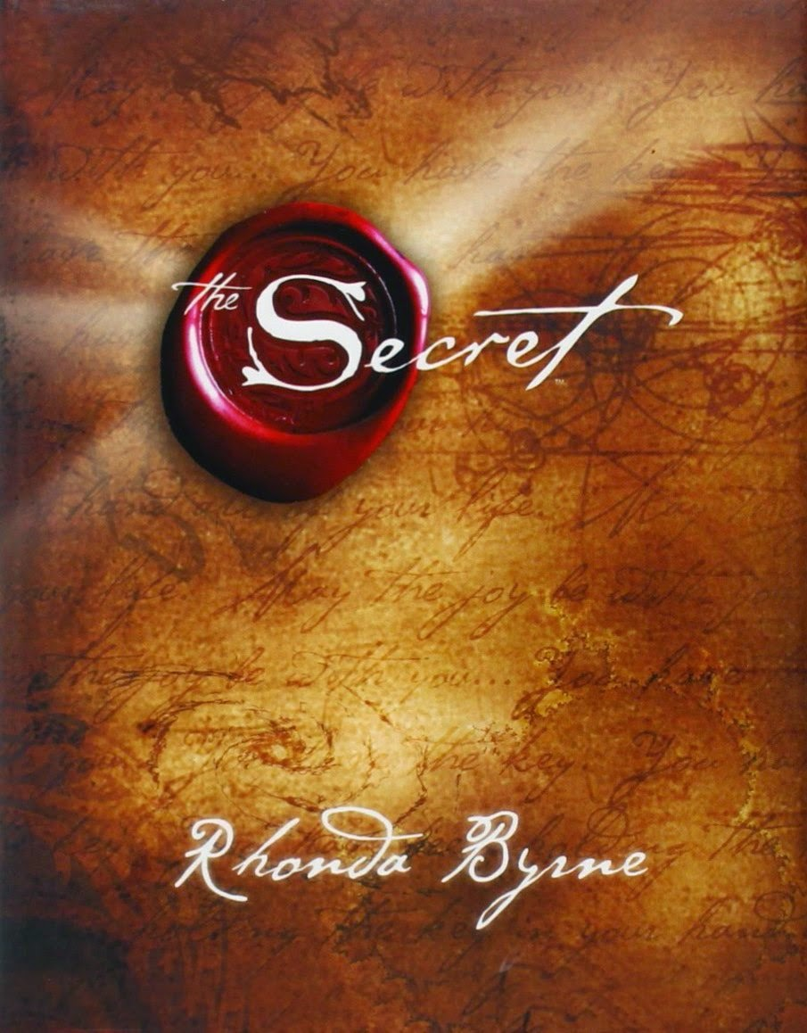 The Secret by Rhonda Byrne - book front cover - Law of Attraction