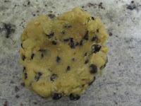 Réalisation cookies des rois coeur frangipane à la cacahuète, boule de pâtede cookies