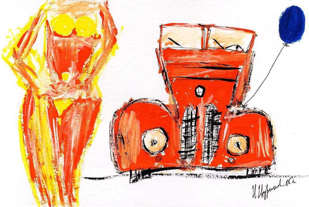 рисунки, современный художник Илья Цуриков