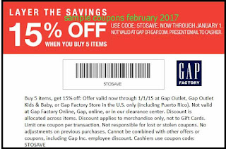 free Gap coupons for february 2017