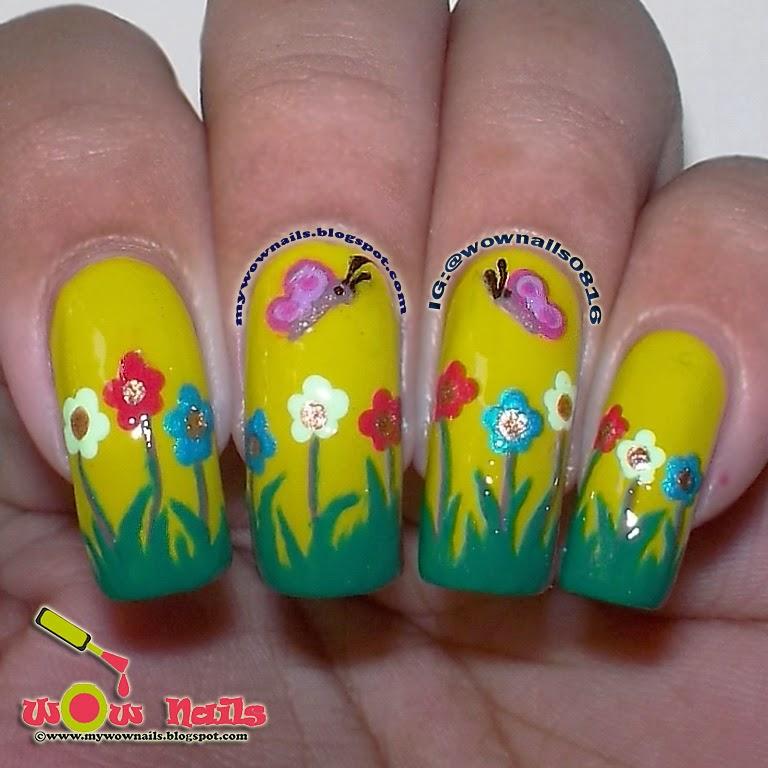 Wow Nails Spring Doodles Nail Art