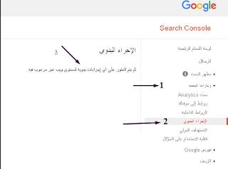 ما هي عقوبات جوجل اليدوية ؟  انواع عقوبات جوجل اليدوية