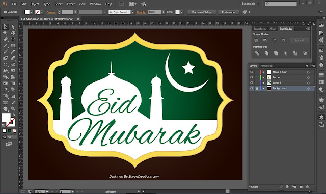 Eid Mubarak Background Photo and PSD Free Download