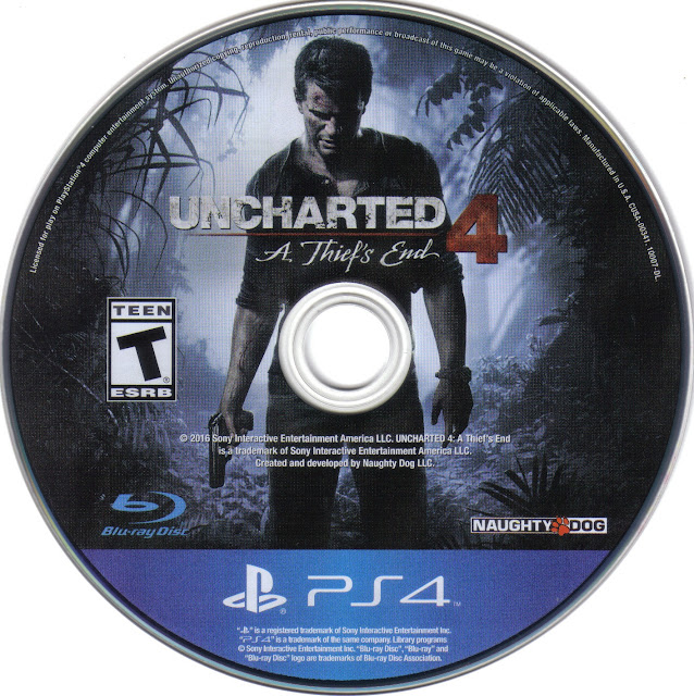 Label Uncharted 4 A Thiefs End PS4