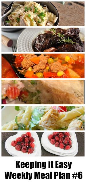 Weekly meal plan for Valentine's week.