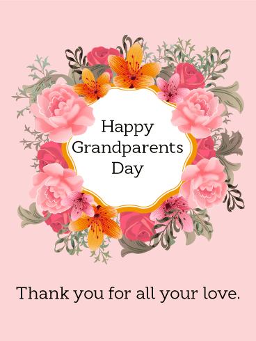 Ecards and clipart for Grandparents day
