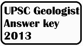 Lyrics Tune: UPSC Geologist Answer key 2013, UPSC Exam