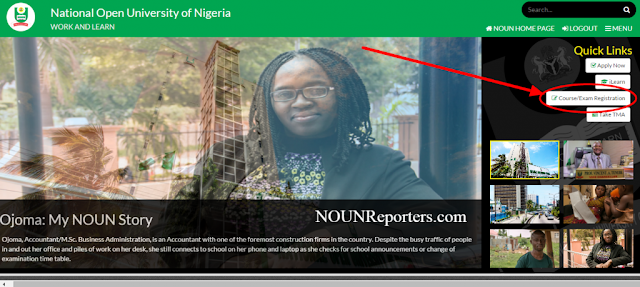 National Open University of Nigeria Portal Home image