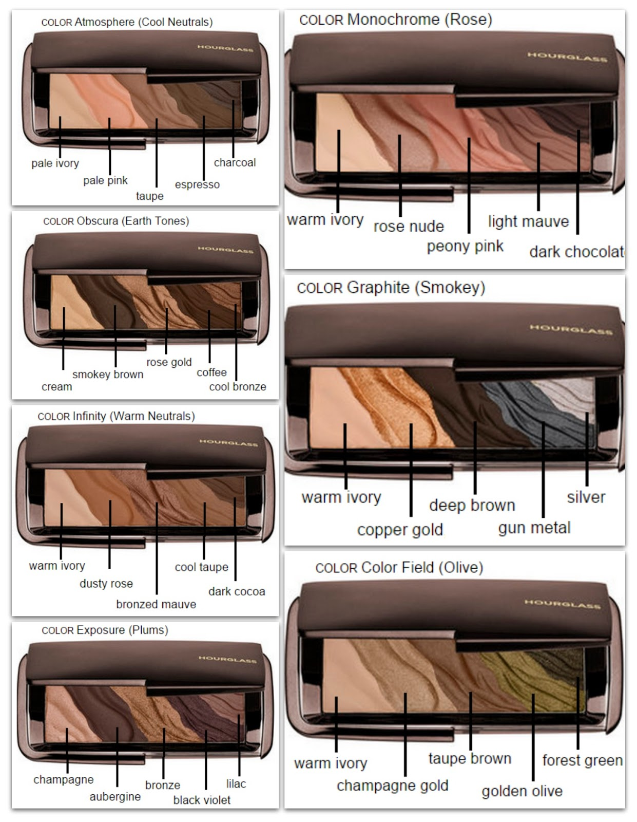 Hourglass modernist eyeshadow palettes beauty news vol9 im really excited about these palettes and i think they will be all over youtube and blogs in no time but i think that it wouldve been so much better geenschuldenfo Gallery