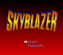 Skyblazer SNES title screen