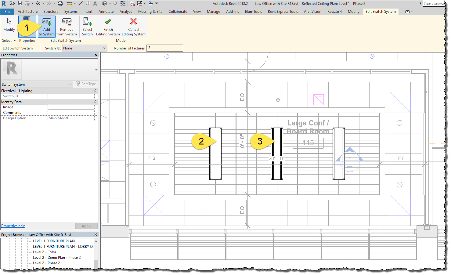 bim chapters revit lighting fixtures; switchingclicking edit switch system enters an edit mode where you can select all the lights controlled by a single switch you can also remove lights