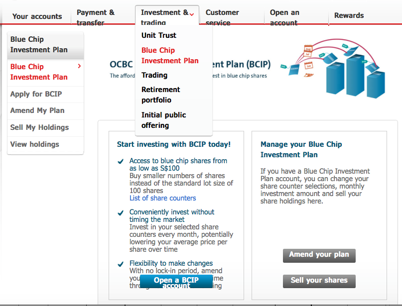 Ocbc blue chip investment plan ozforex card rates