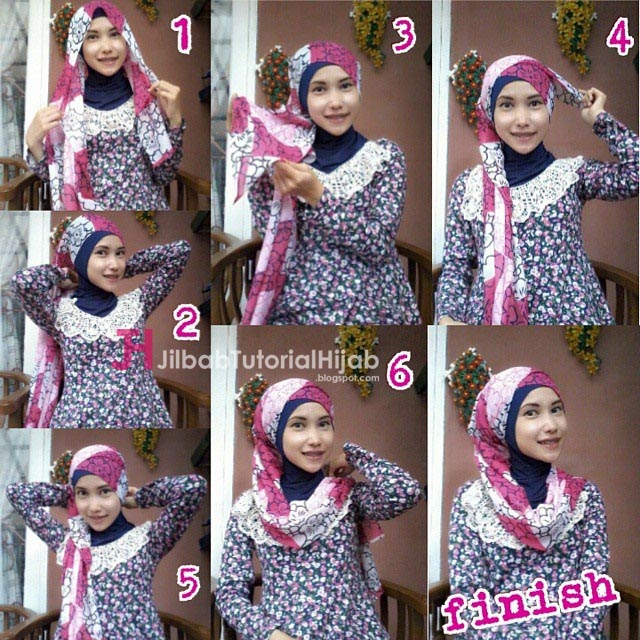 Tutorial Cara Memakai Hijab Warna-Warni Pashmina Sederhana dan Lucu