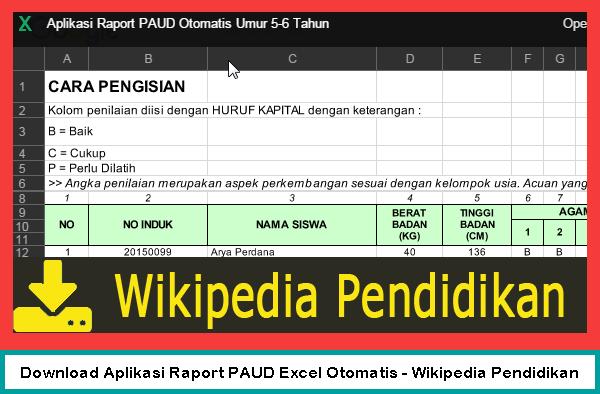 Download Aplikasi Raport PAUD Excel Otomatis Download Aplikasi Raport PAUD Excel Otomatis -