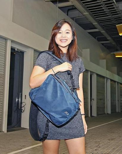 Miss Mandy Chan put her university plans on hold to design and produce a bag.