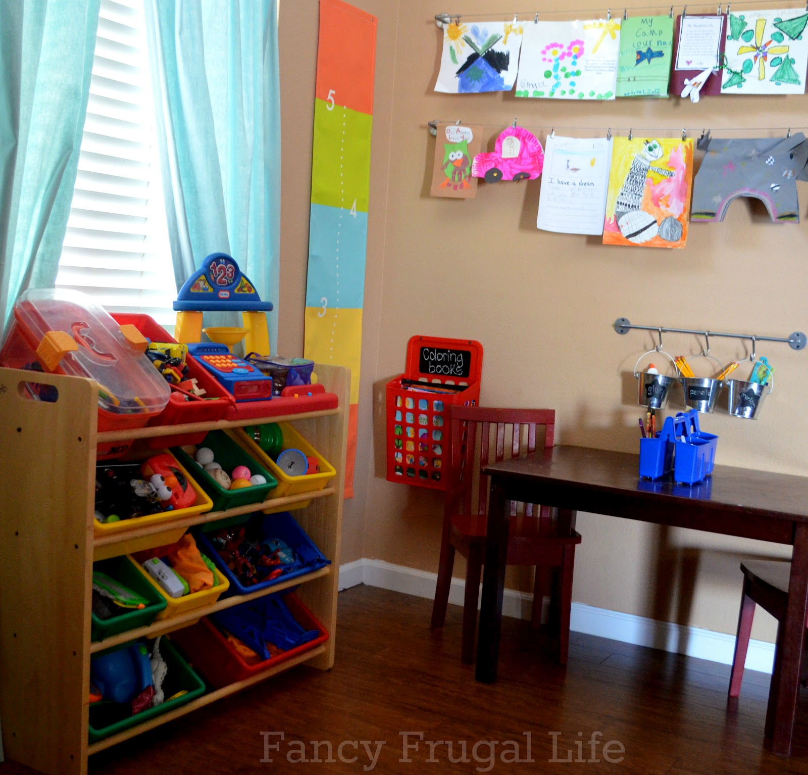 Colorful Book Room: Storage Ideas For Coloring Books And Crayons