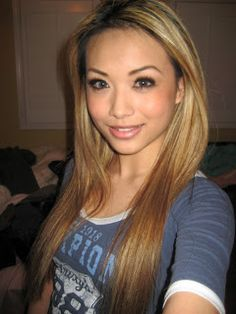 Asian with blonde hair