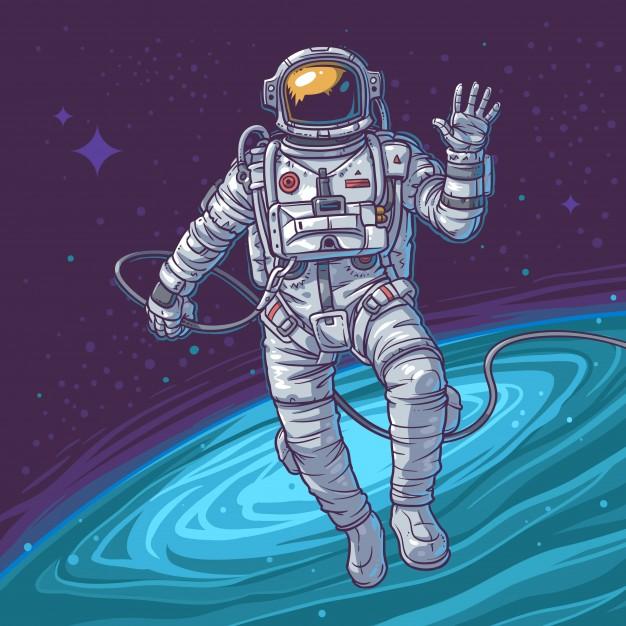 Vector illustration cosmonaut Free Vector