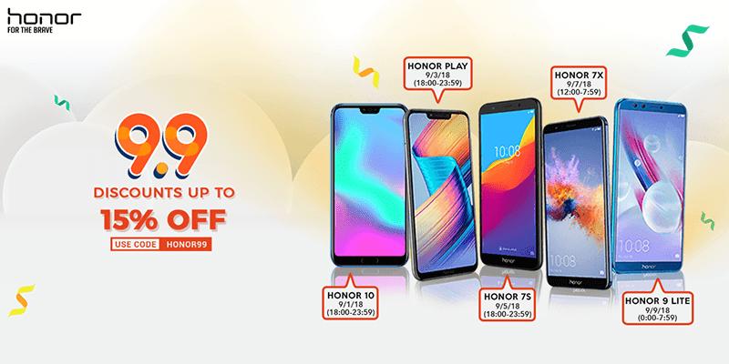 Sale Alert: Honor Philippines announces Hot Deals at Shopee's 9.9 campaign