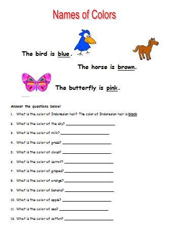 Materi Bahasa Inggris untuk Anak Level 1 (Usia 7 - 9 Tahun): Names of Colors (Nama-nama Warna)