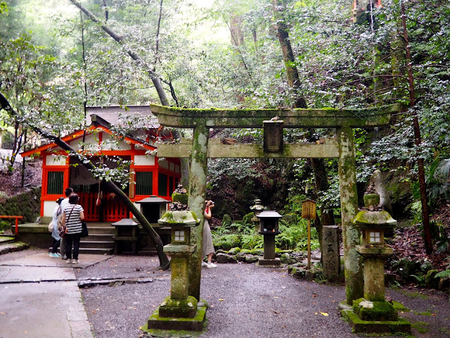 Shrine along the hiking path from Kurama to Kibune, Kyoto, Japan