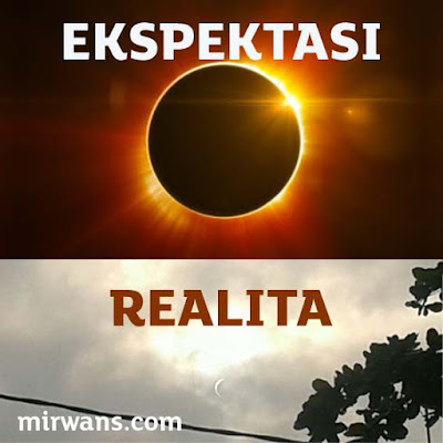 ekspektasi realita gerhana matahari