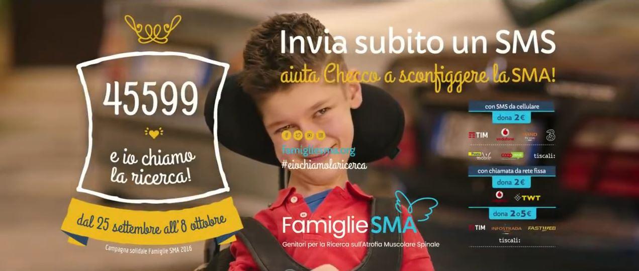 Pubblicità Checco Zalone Sma | Ironia per incentivare la raccolta fondi