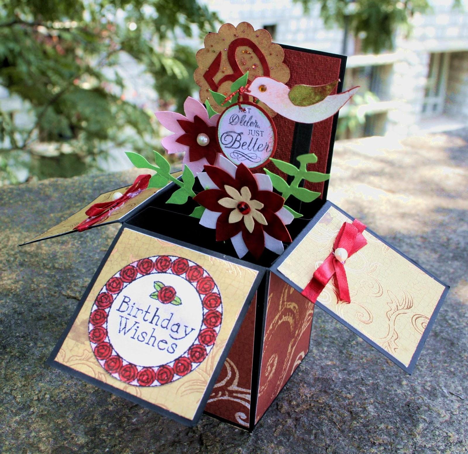my handmade cards a popup box card