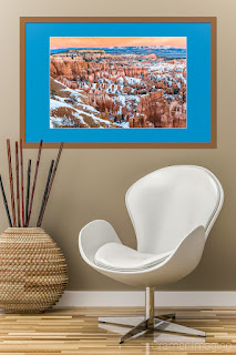 Photograph of Cramer Imaging's Candied Canyon with a chair and plant