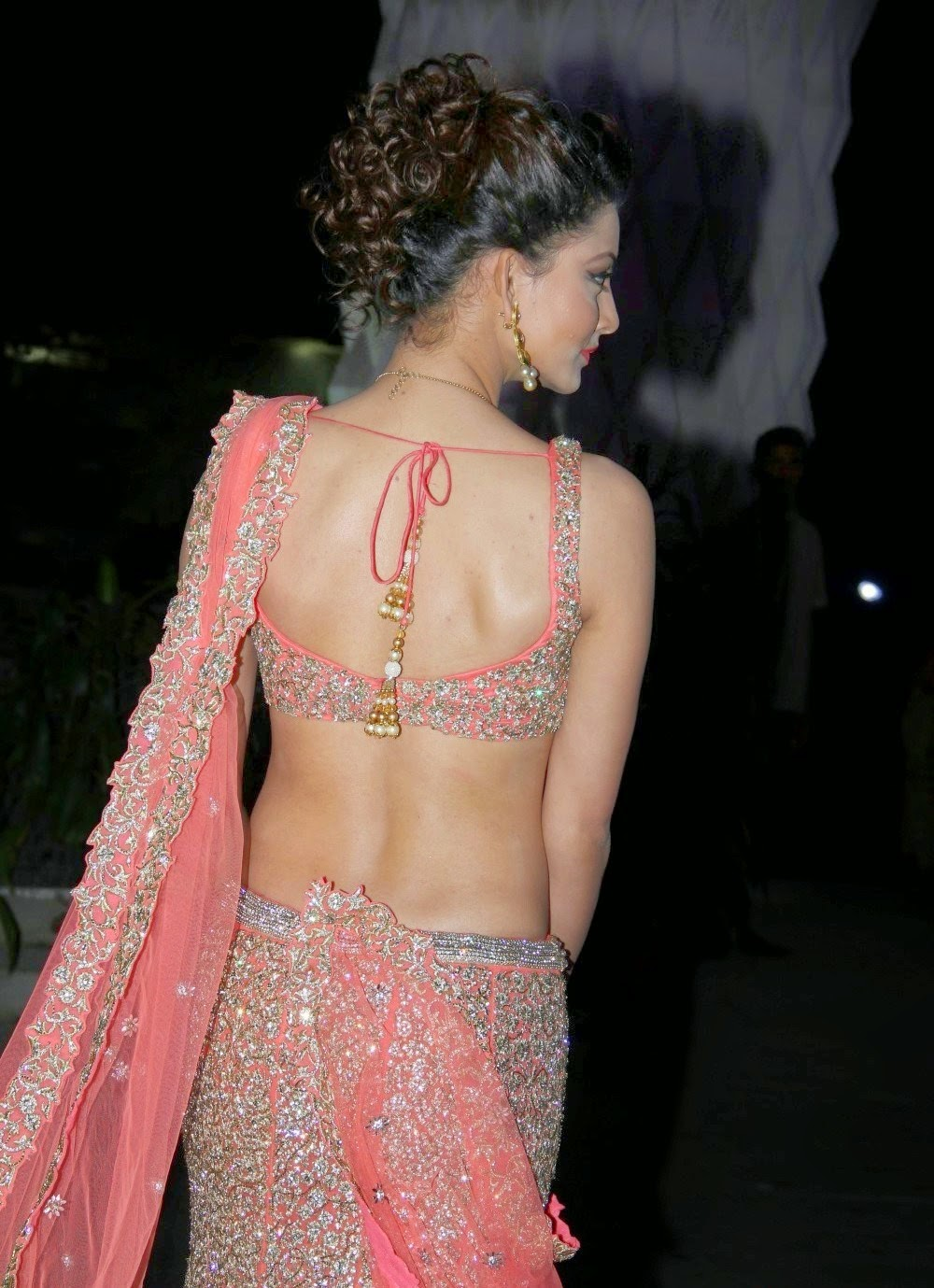 Urvashi Rautela In Saree Backless Hd Wallpepar 2017 -5614