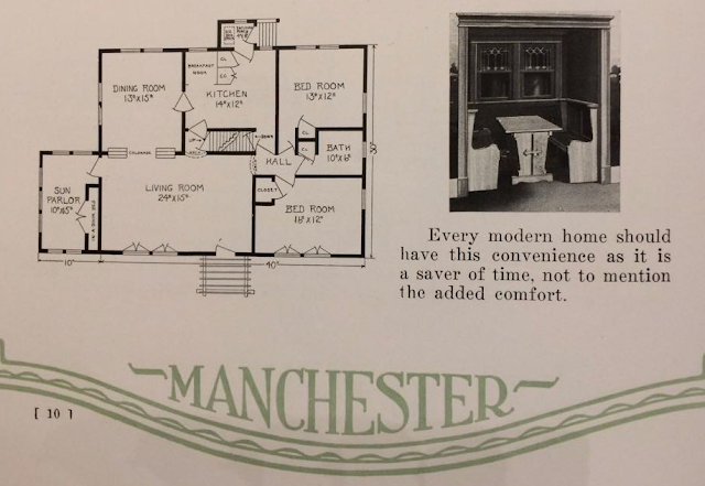 Manchester Buildings Oakdale model floor plan shown in catalog