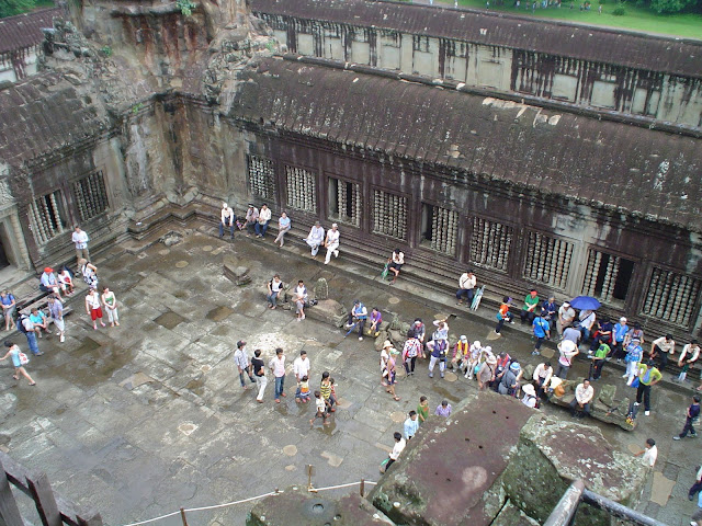 Les touristes à Angkor Vat - Cambodge