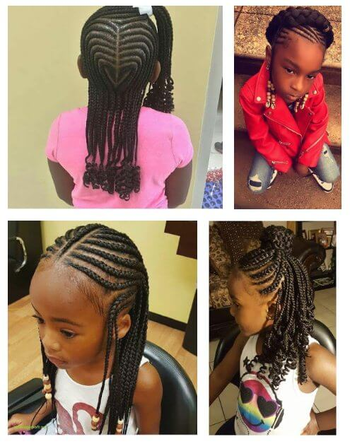 Fantastic 39 Latest Box Braids Ponytails For Little Girls To Make African Natural Hairstyles Runnerswayorg