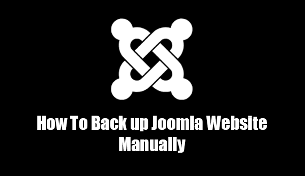 Back up Joomla website manually