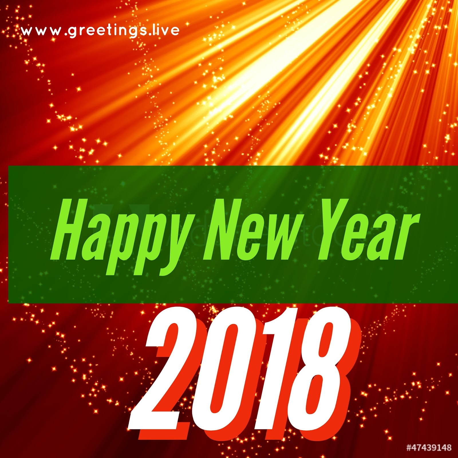 Greetingsve free hd images to express wishes all occasions sparkling shine rays new year 2018 greeting cards from greetingsve m4hsunfo