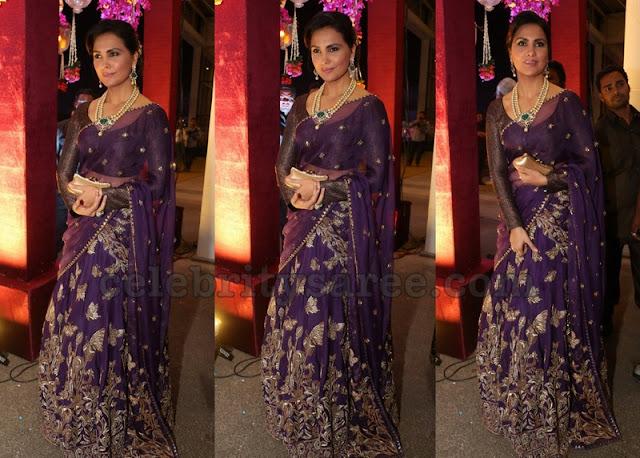 Lara Dutta in Monisha Jaising Half Sari