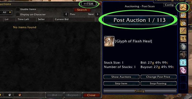 Phat Lewts' Gold Blog: TradeSkillMaster - Posting & Canceling