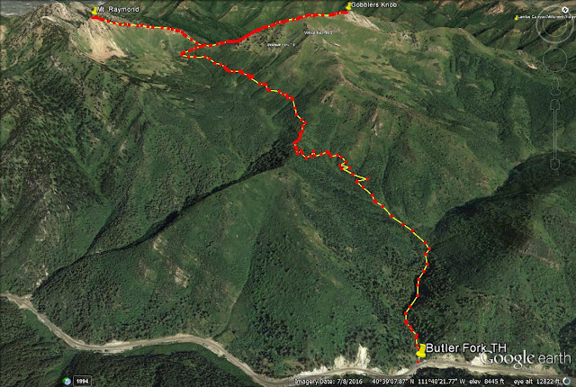 Gobblers Knob and Mt. Raymond trail map via Butler Fork