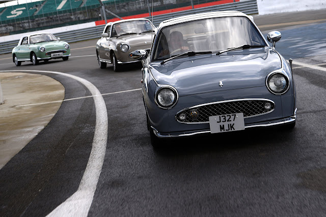 Nissan Figaro celebrating 25 years at the Classic
