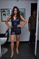 Sanjana looks happy in sparkling short Deep neck Purple Gown ~  Exclusive 64.JPG