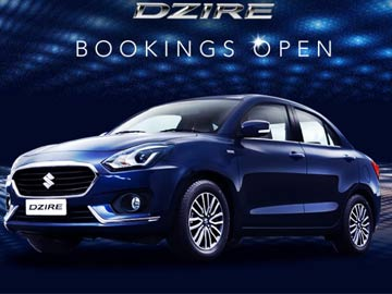 Maruti Suzuki new Dzire Model booking Online at rs: 11,000