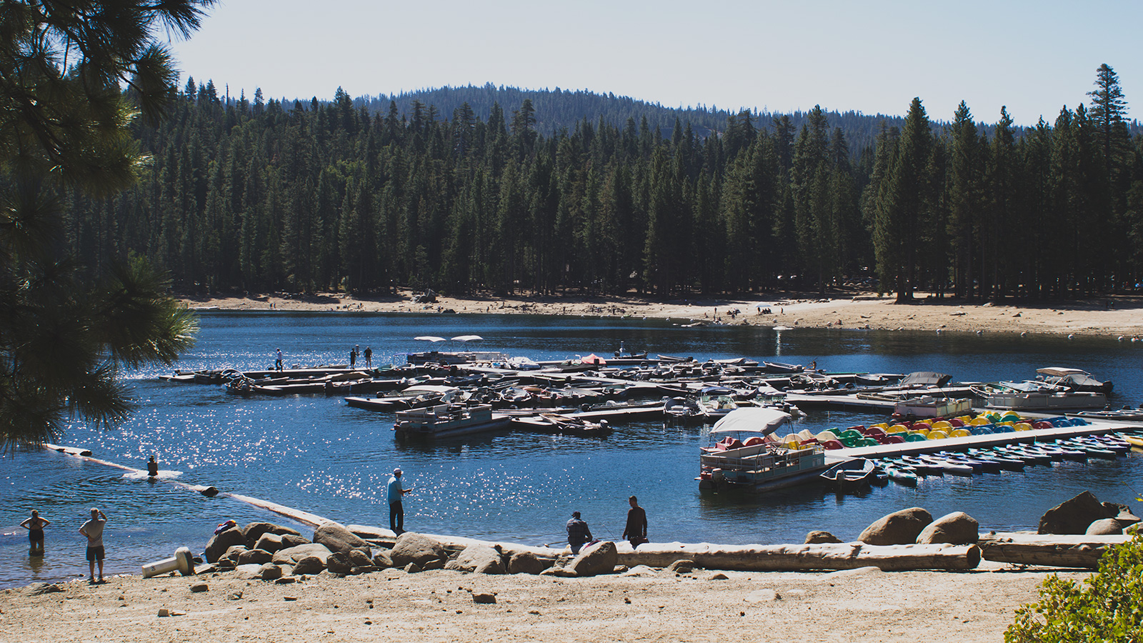 The marina at Pinecrest Lake