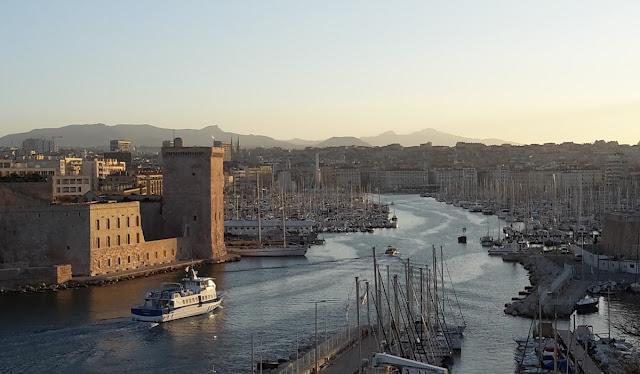 Vista de Marselha durante o inverno