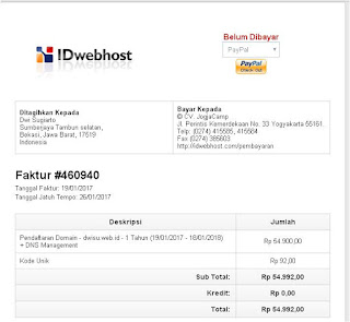 Cara Membeli Domain Menggunakan Paypal di IDwebhost.com