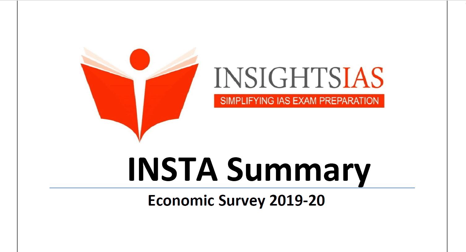 Insight IAS Economic Survey 2019-20